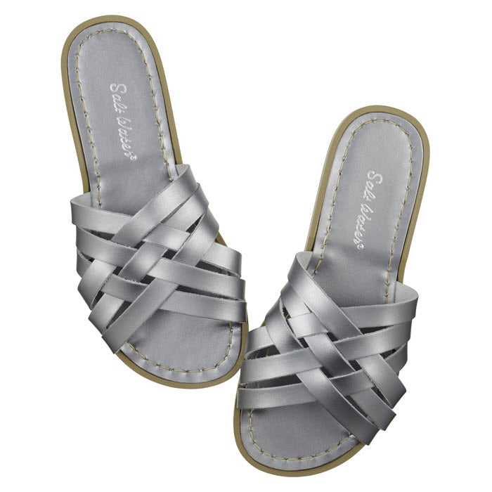 Salt Water Sandalen «RETRO SLIDES» Pewter