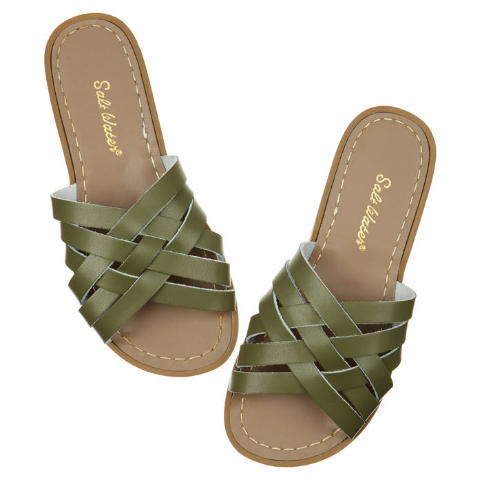 Salt Water Sandalen «RETRO SLIDES» Olive