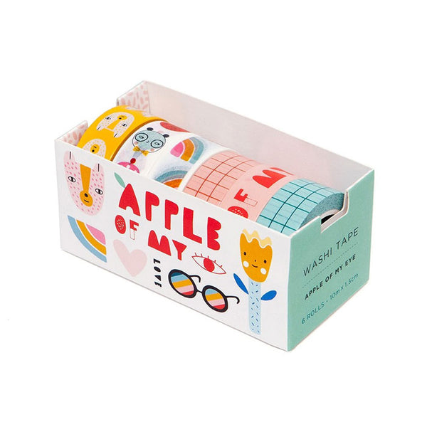 6 Washi tapes «apple of my eye» von Petit Monkey