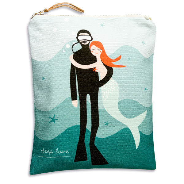 Baumwolltasche «Deep Love» von Pleased to meet