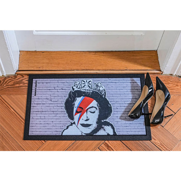Fussteppich «The Queen» von Banksy Graffiti