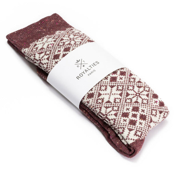 Socken Herren «ASPEN Burgundy» von Royalties