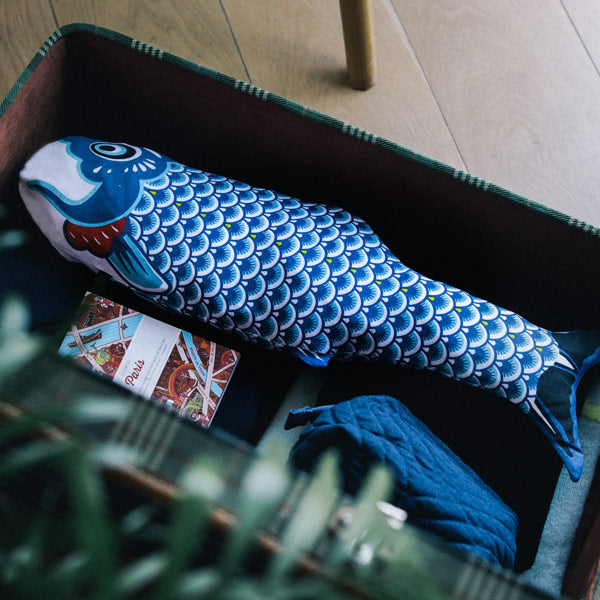 Laundry bag Koinobori Travel blue von Doiy