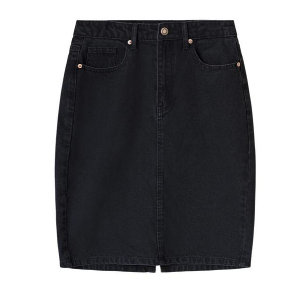Denim Skirt «Doris» in black von I dig denim
