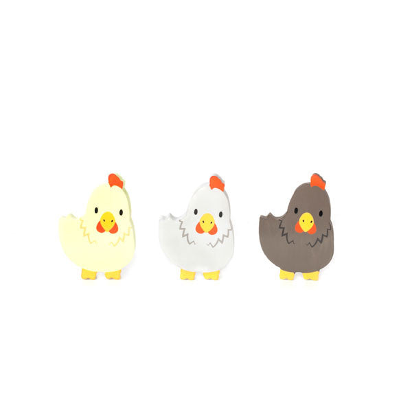 Radiergummi-Set «Farm Animals Chicken» von Kikkerland