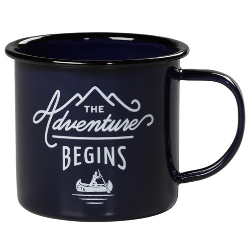 Emaille Becher «ADVENTURE» blue von Wild & Wolf - weloveyoulove  - 1