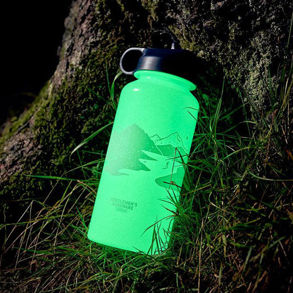Glow in the dark water bottle, 1 liter von Wild & Wolf