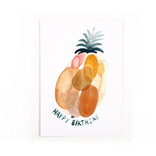 Postkarte «Happy Birthday» von Gretas Schwester