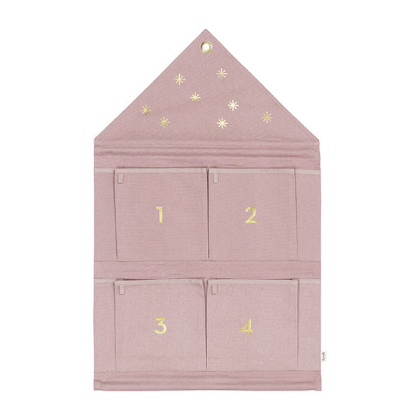 Adventskalender «HOUSE» in rose von Ferm Living