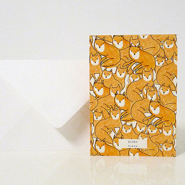 Karte «Fox croud bisou» von Season Paper