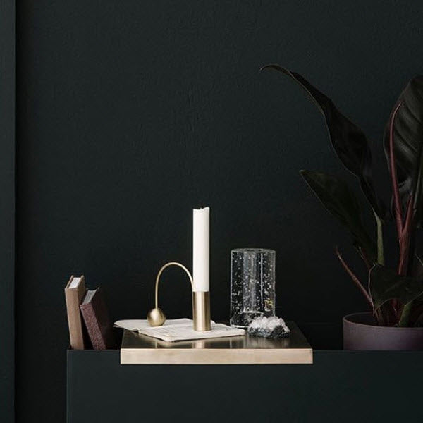 Balance Candle Holder Brass von Ferm Living