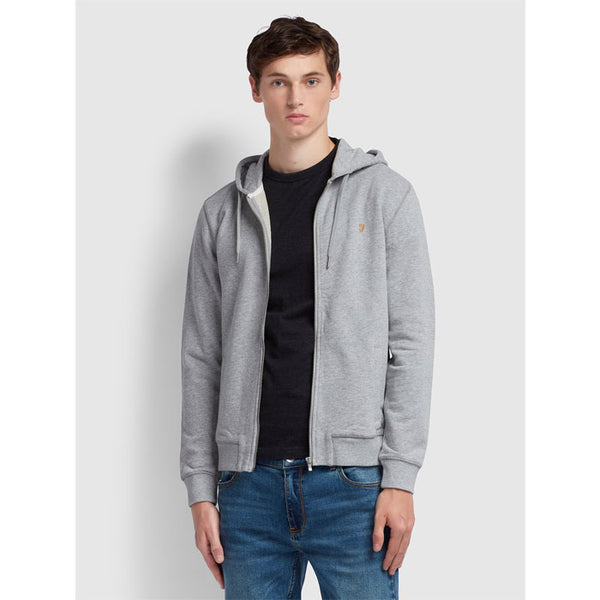 Hoodie-Jacke «Kyle» in light grey von Farah
