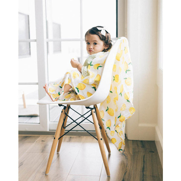 Swaddle Cotton Muslin «Lemon» von Little Unicorn