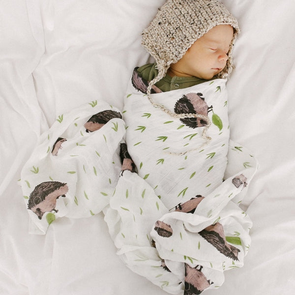 Swaddle Deluxe Bamboo Muslin «Hedgehog» von Little Unicorn