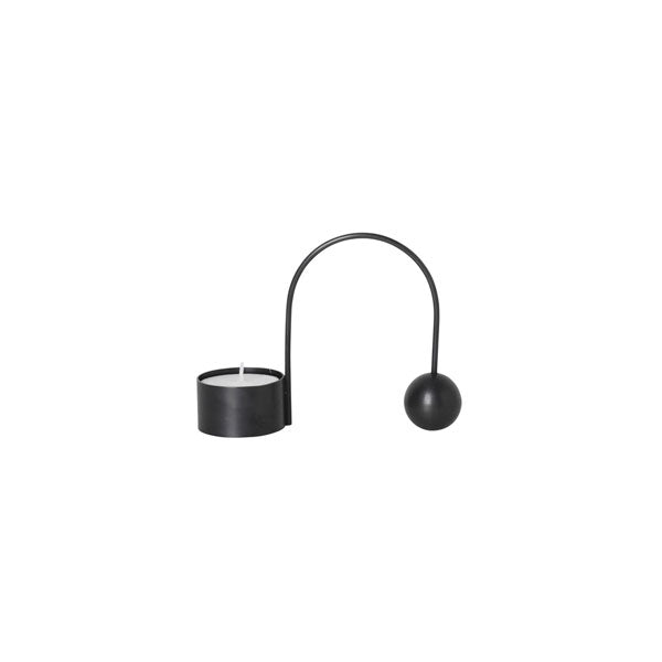 Balance Tealight Holder Black von Ferm Living