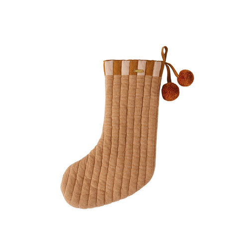 Christmas Stocking «Laja» caramel/rose von Oyoy