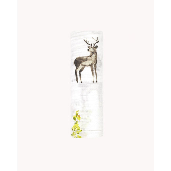 Swaddle Cotton Muslin «Oh Deer» von Little Unicorn