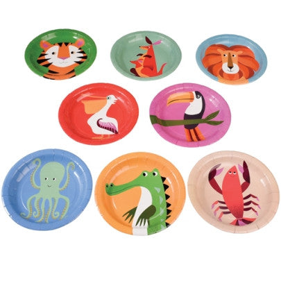 Set aus 8 «Colourful Creatures» Papp-Teller - weloveyoulove  - 2