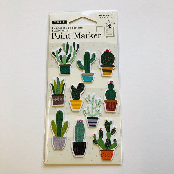 Point Marker Sticky Notes Cactus von Midori
