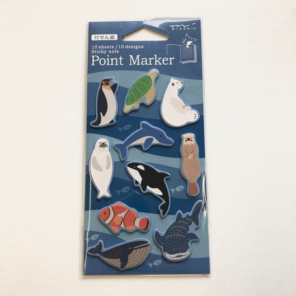 Point Marker Sticky Notes Aquarium von Midori