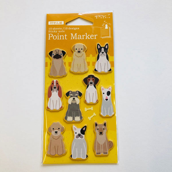 Point Marker Sticky Notes Dog von Midori