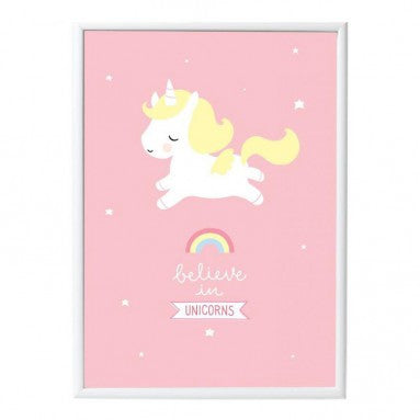 Poster «Unicorn» von a little lovely company