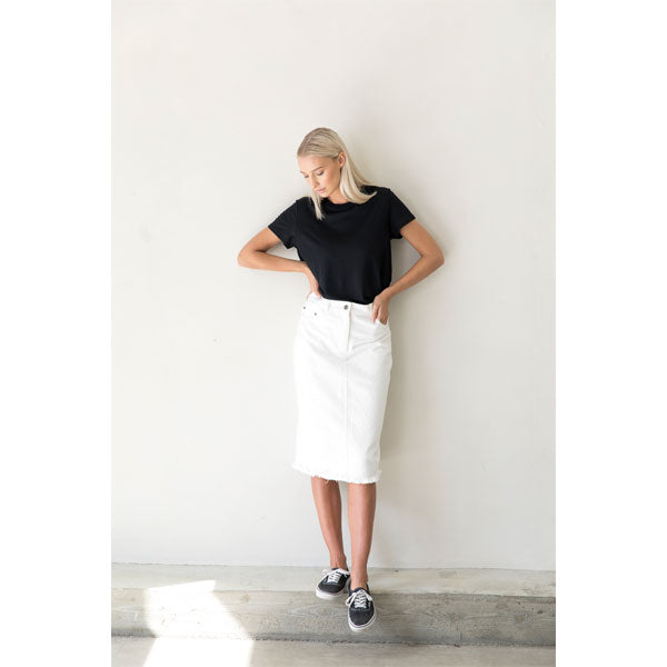 Denim Skirt «Ross» in ecru von I dig denim