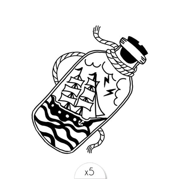 Tattoos «SEA BOTTLE» von Sioou