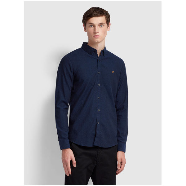 Slim-fit Hemd «Steen» in navy von Farah