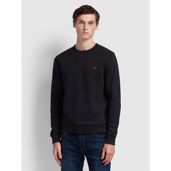 Sweatshirt «Tim Crew» in black von Farah