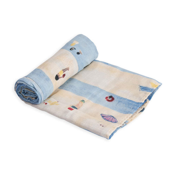 Swaddle Cotton Muslin «Tap Lines» von Little Unicorn