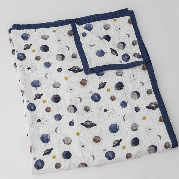 Big Kid Quilt Cotton Muslin «Planetary» von Little Unicorn