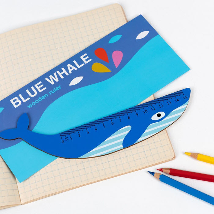 Holzlineal «BLUE WHALE»
