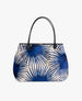 Tote Bag Velvet «Blue Palms» von Wouf