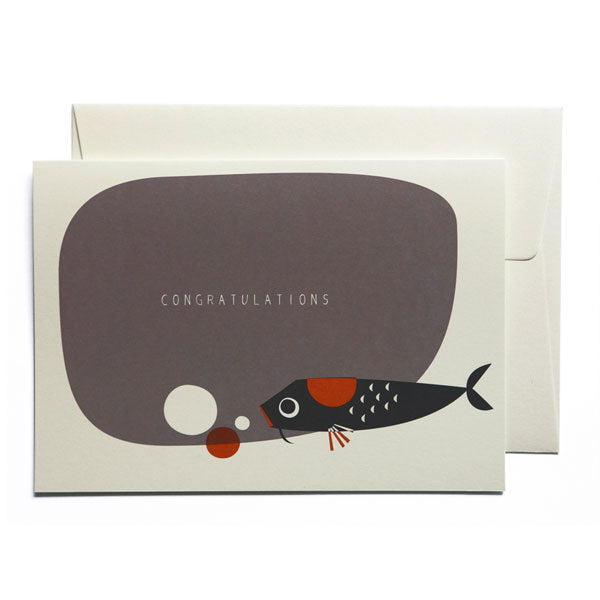 Karte «Congratulations Koi» von pleased to meet
