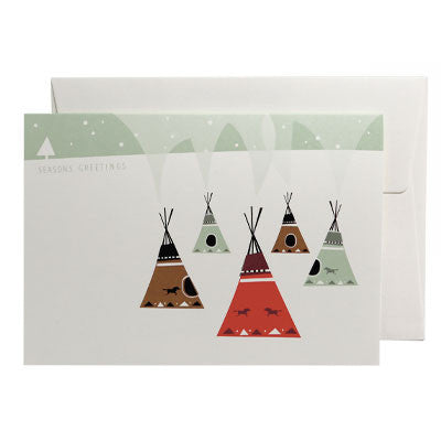 Karte «Five Tepees» von Pleased to meet - weloveyoulove