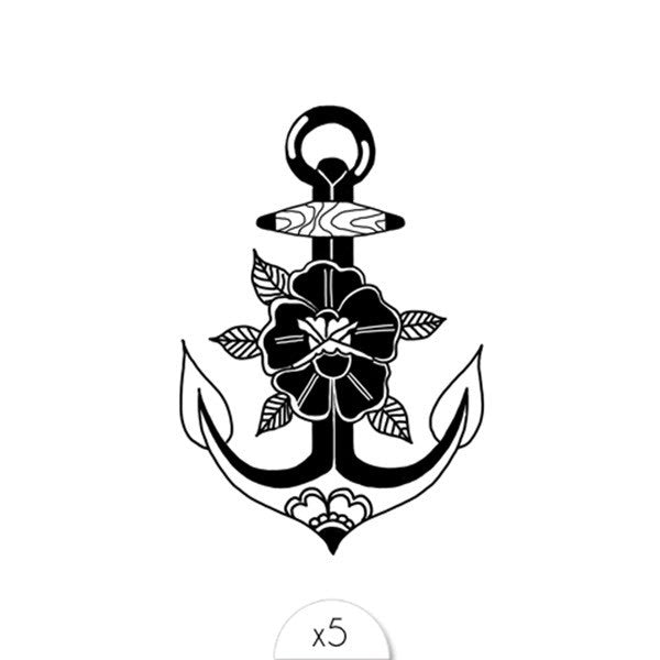 Tattoos «Flower Anchor» von Sioou