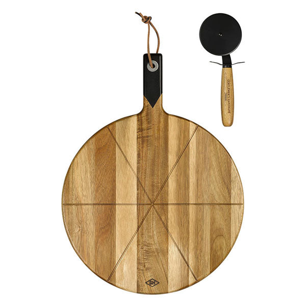 Pizza Cutter & Serving Board von Wild & Wolf