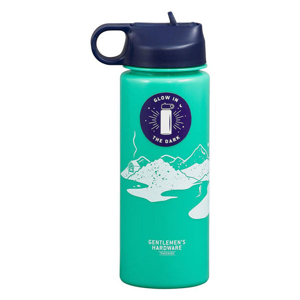 Glow in the dark water bottle, 7 dl von Wild & Wolf