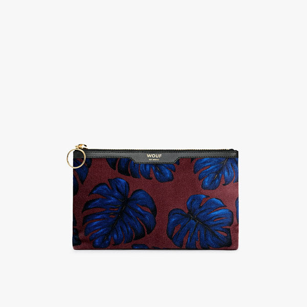 Pocket Clutch Velvet «Leaves» von Wouf