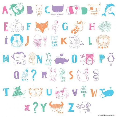 Lightbox Buchstaben-Set «ABC Kids Pastel» von A little lovely Company - weloveyoulove  - 1