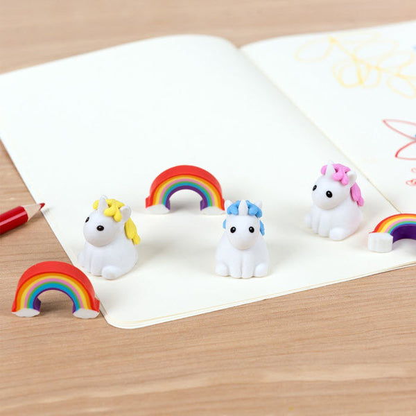 Mini-Radiergummis 6er Set  «UNICORNS»