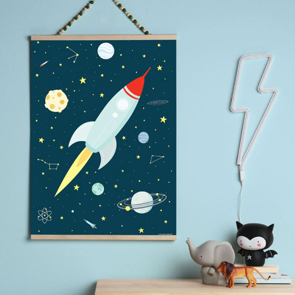 Poster «Space» von A Little Lovely Company