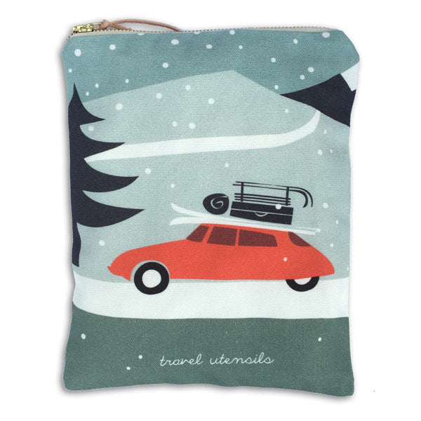 Baumwolltasche «Winter travel» von Pleased to meet