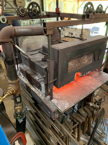 The homemade forge at Wicks Forge