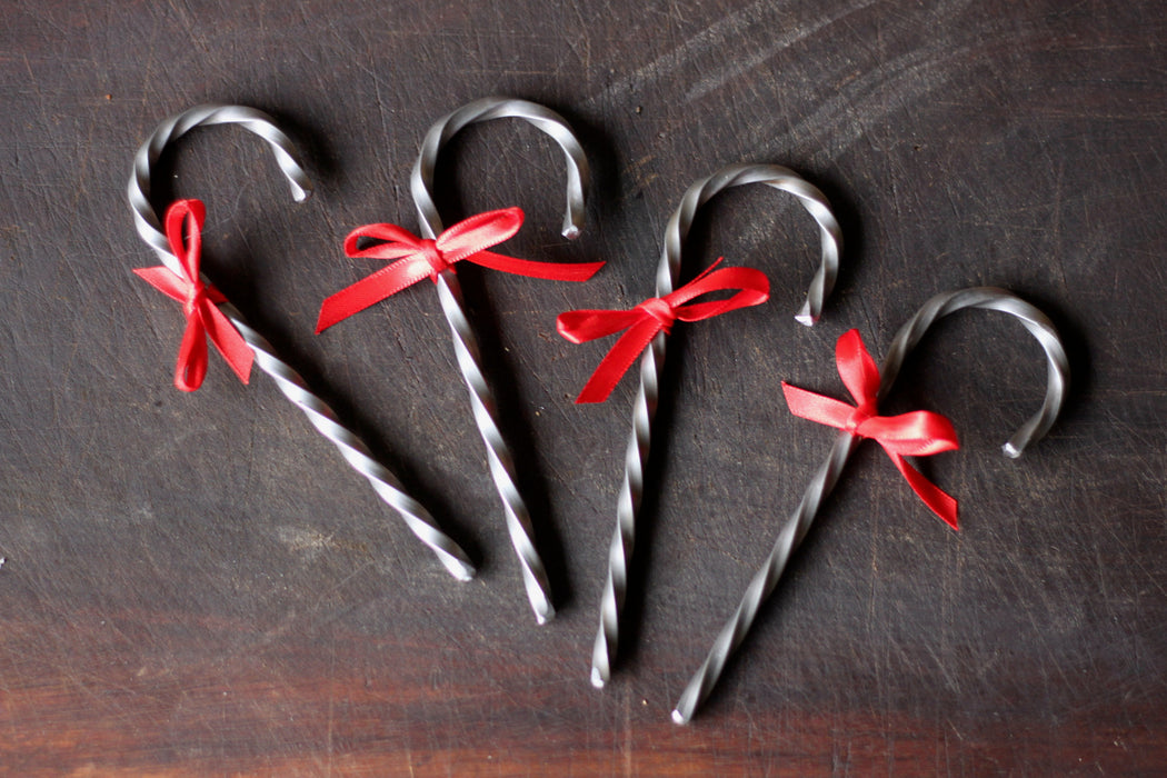 Steel Candy Cane Ornament
