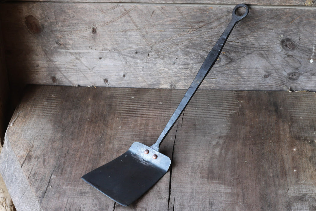 a blacksmith hand forged spatula by Wicks Forge