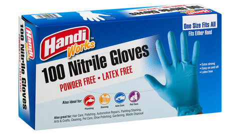 "Handi-Works™ 100 count Disposable Nitrile ""Latex Free"""