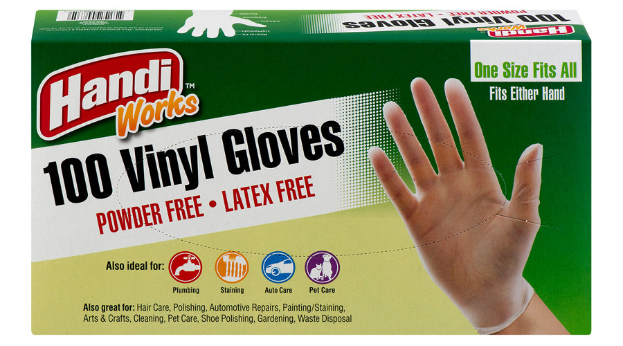 "Handi-Works™ 100 count Disposable Vinyl ""Latex Free"""