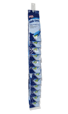"Handi-Works™ 10 count Disposable Nitrile ""Latex Free"" Clip Strip"